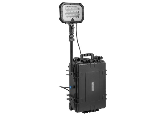 Single head portable floodlight with strong output, 50 Ah 18000 lm