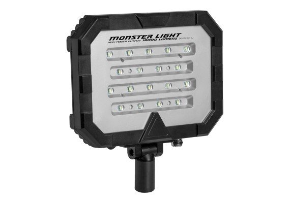 Portable floodlight with dual heads for double the output, MONSTERLIGHT TWIN 50 Ah 36000 lm