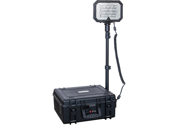 Single head portable floodlight with strong output, MONSTERLIGHT MIDI 54,4 Ah 18000 lm