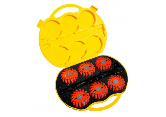 Unsinkable & indestructible signal discs with magnetic mount, amber