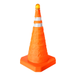 Collapsible Traffic Cone with LED Flashing Light