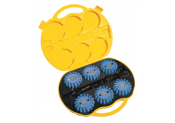 Unsinkable & indestructible signal discs with magnetic mount, blue