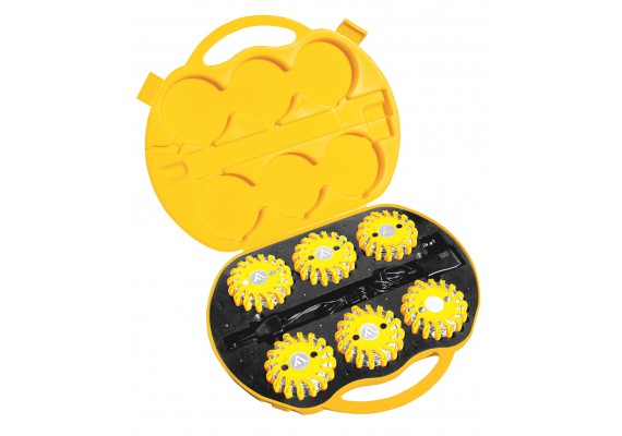 Unsinkable & indestructible signal discs with magnetic mount, yellow