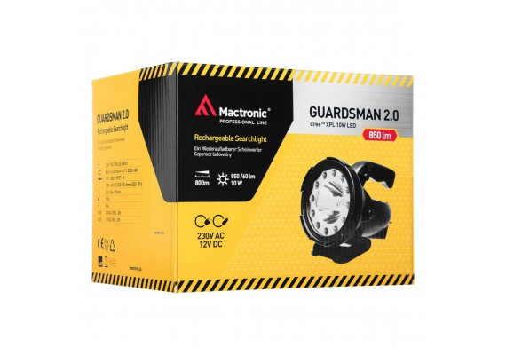 Rechargeable searchlight GUARDSMAN 2.0, 1600 lm