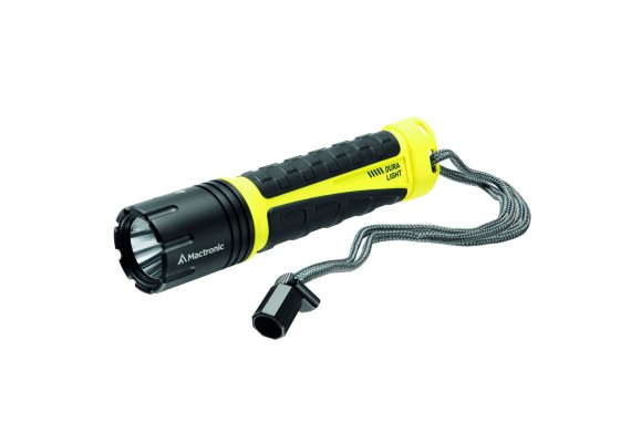 Extremely durable hand-held rechargeable flashlight 500lm