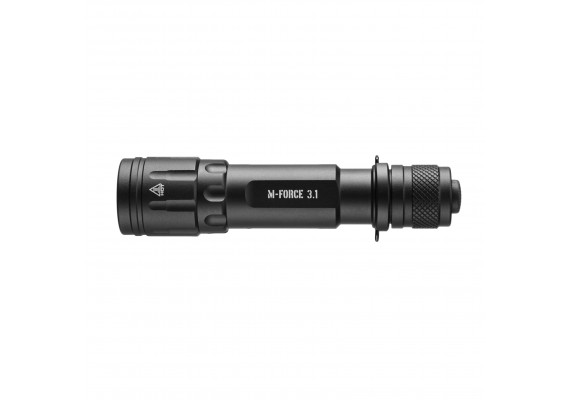 Battery tactical flashlight,  longest runtime in the series, M-FORCE 3.1