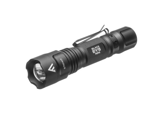 Compact battery flashlight with a bright, tight beam and focus function BLACK EYE MINI, 135 lm