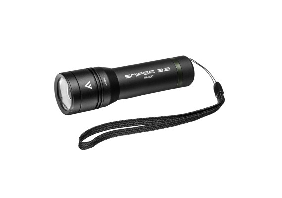 Battery flashlight with silent switch SNIPER 3.2, 420lm