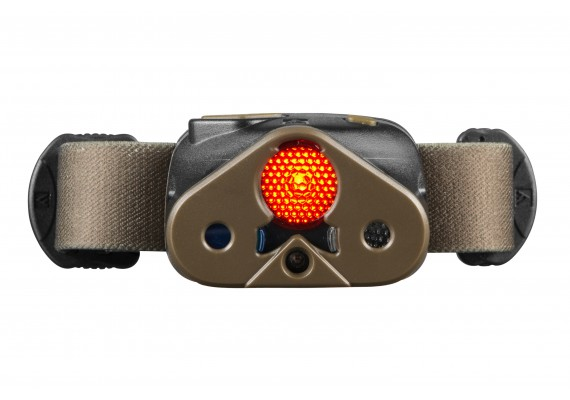 Battery headlamp featuring an additional red diode and 3 filters and diffuser, 340 lm
